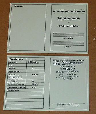 Betriebserlaubnis,Allgemeine Betriebserlaubnis,SR2,SR1,KR50,SR,MAW,Simson,Moped