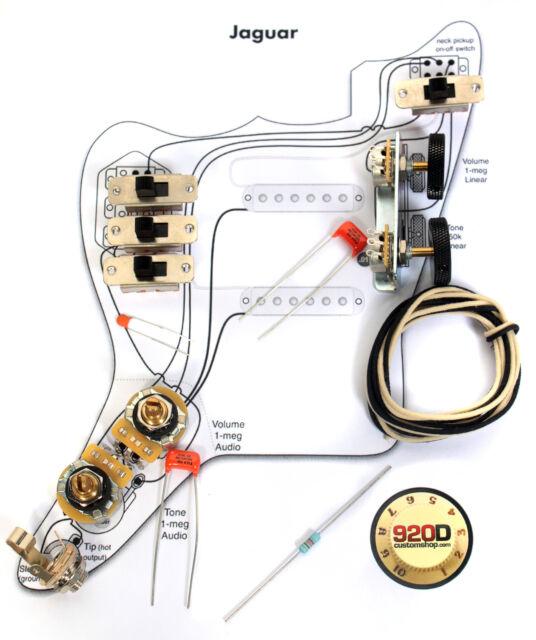 fender vintage jaguar wiring kit pots switch slider caps fender vintage 62 jaguar wiring kit pots switch slider caps bracket diagram