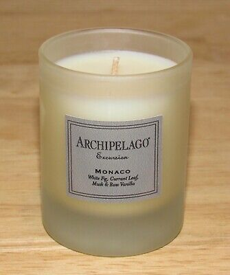 Archipelago Luxury Glass Votive Soy Candle Excursion Monaco Fig 2 Oz NWOB - Luxury Soy Candles