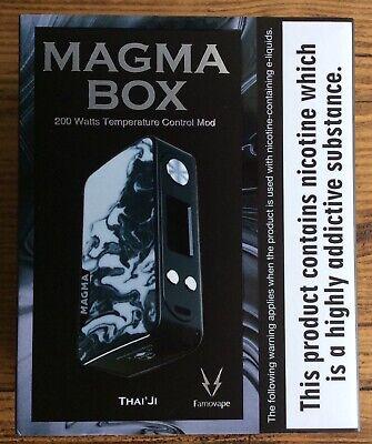 Authentic Famovape Magma 200w Dual 18650 battery mod Thai'ji design vape vaping