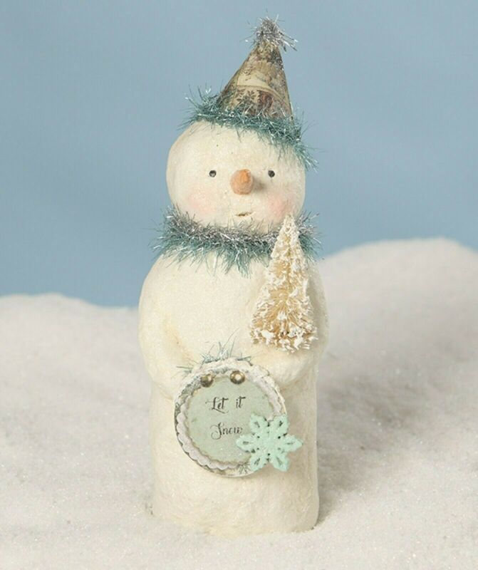 Bethany Lowe Christmas Party Blues Snowman MA7967 New