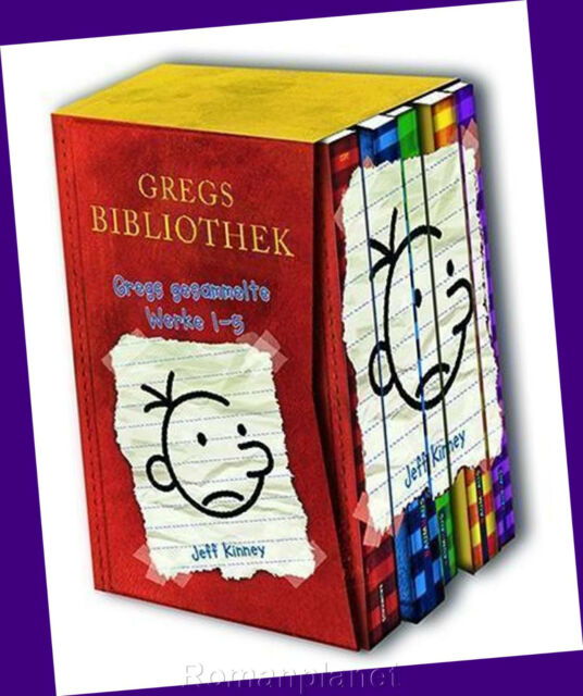 Jeff Kinney - Gregs Tagebuch Band 1- 5  Band 1+2+3+4+5 im Schuber - Hardcover
