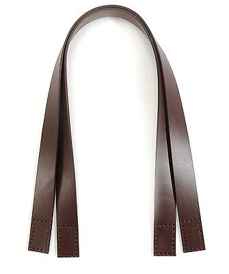 "24.1"" byhands 100% Genuine Leather Purse Handles, Bag Strap, Brown (20-4101)"