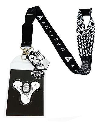 Destiny Symbol Pattern Lanyard w/ ID Badge Holder Sticker & Charm New Official