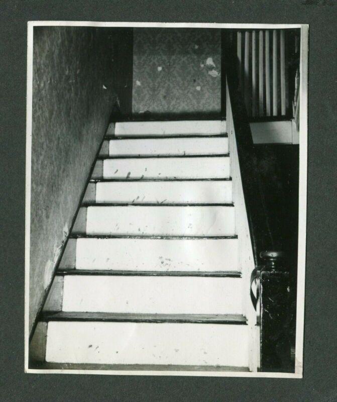 Vintage Photo Impolite View of Stairs Still OR Broken Escalator 404059