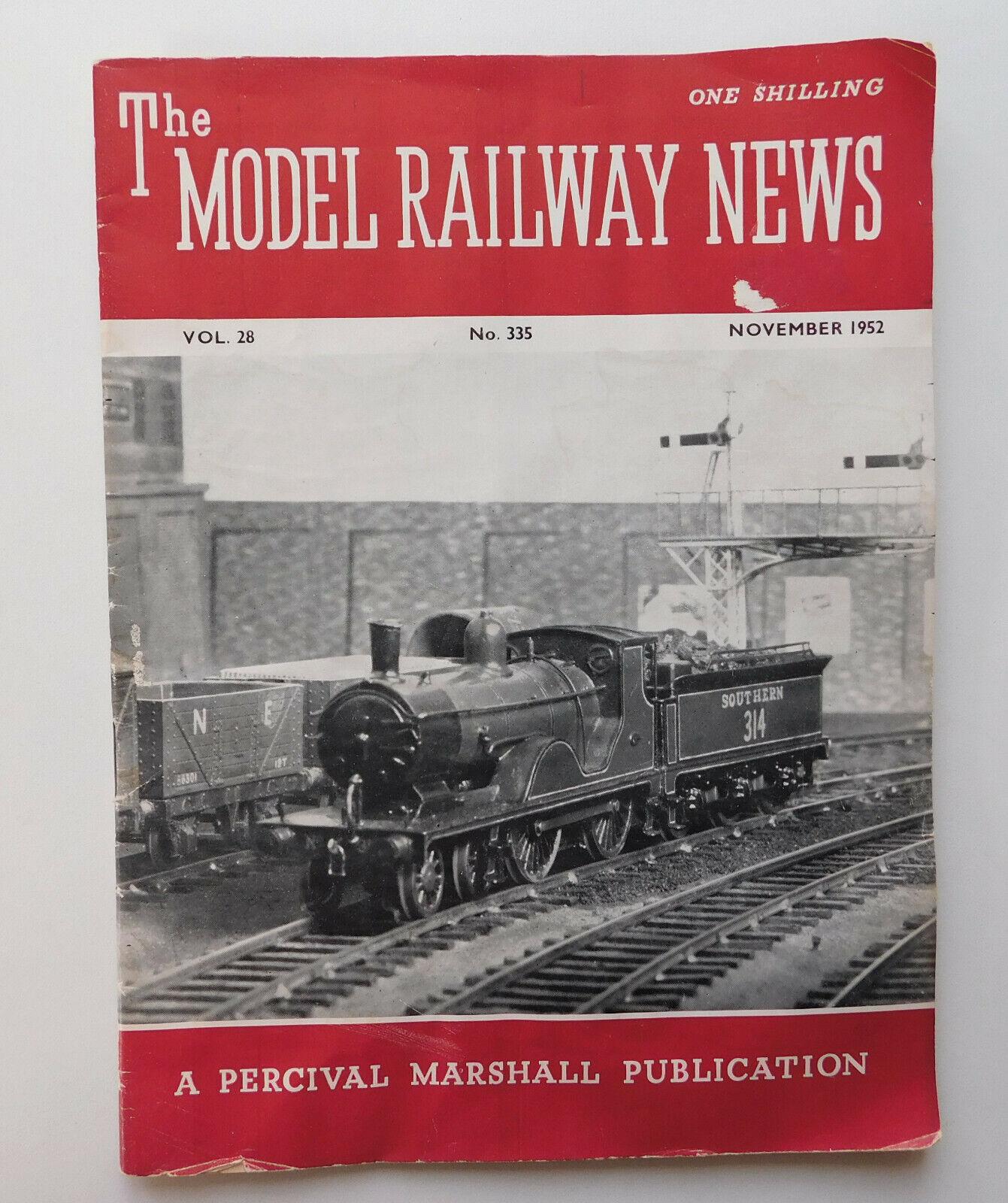 Model Railway News 1952 November vintage 1950s magazine miniature train hobby
