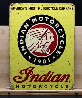 Indian Motorcycles Sign 9x12