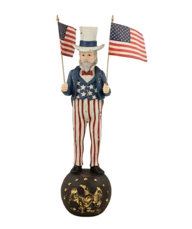 """Bethany Lowe 12"""" Uncle Sam With Flags TD5018"""