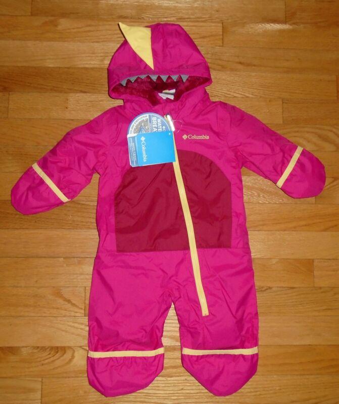 Columbia Baby Girls Snowsuit Pink Bunting Shark Trek 3M 6M NWT $120