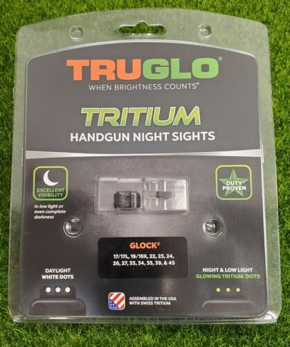 TruGlo Tritium Handgun Night Sights for Glock 17 19 22-24 26 27 Green - TG231G1