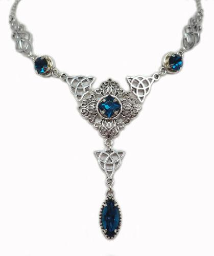 Celtic Goddess Irish Trinity Knots Renaissance Medieval Choker Necklace Bridal