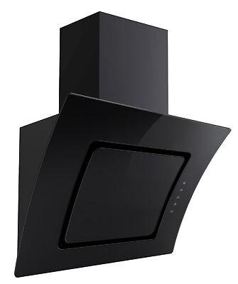 Hotte de Cuisinière PKM S2-60ABTZ Set Ventilation Verre Noir Dôme sans Tête