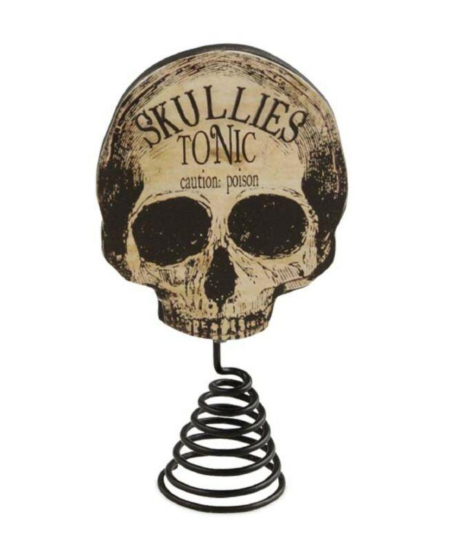 Bethany Lowe Apothecary Skull Tree Topper RL6840 New