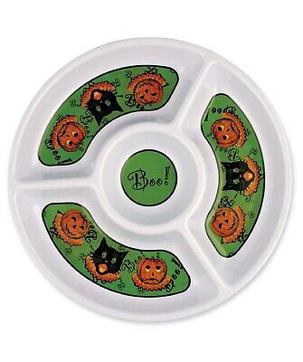 Bethany Lowe Halloween Sassy Cat Chip and Dip Platter LG8429 New