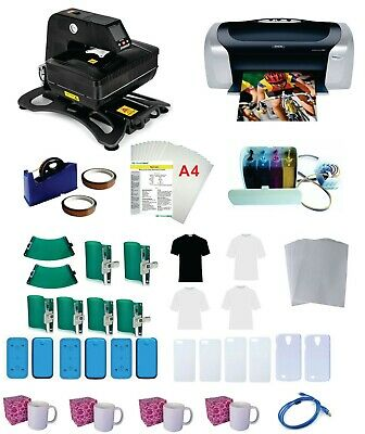 New 3d Pro Sublimation Transfer Machine 6 Phone Molds Epson Printer C88 Ciss Kit