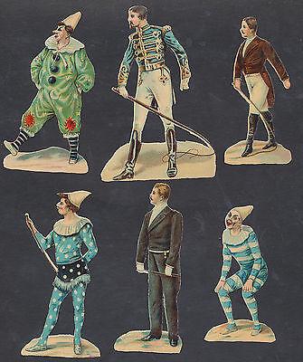 S1415 Victorian Die Cut Scraps: 6 Circus Figures