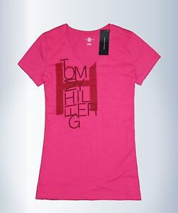 tommy hilfiger women v neck t shirt size x small new with. Black Bedroom Furniture Sets. Home Design Ideas