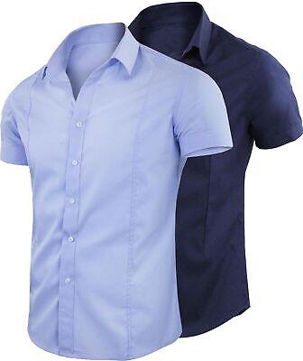 Camicia Uomo Slim Fit Maniche Corte Casual Comfort Mezza Manica GIROGAMA 1239IT