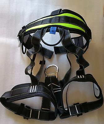 EVOKE GEAR ProTree Fall Protection Rock Climbing Rappelling Harness And Lanyard