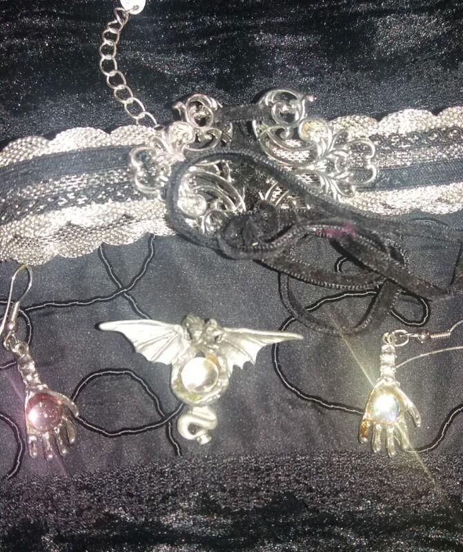vintage gothic jewelry lot