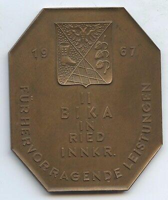 GY132 - Plakette II. BIKA in Ried im Innkreis 1967 für hervorragende Leistungen