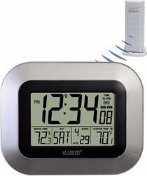 WS-8115U-S La Crosse Technology Atomic Digital Wall Clock TX38U-IT-N Refurbished