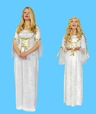 Damen Mädchen Kostüm ENGEL Kleid Engelchen Weihnachten Christkind Krippenspiel