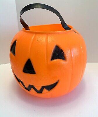 Empire Plastic Corp Jack O Lantern Pumpkin Bucket Pail 1968 Trick Or Treat Vtg