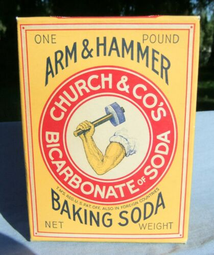 Vntg Unopened 1 lb. Box of Arm & Hammer Church & Co