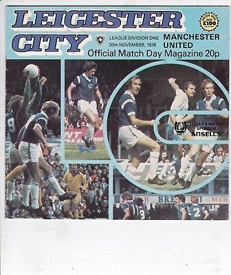 LEICESTER CITY V MANCHESTER UTD DIVISION ONE 20/11/76