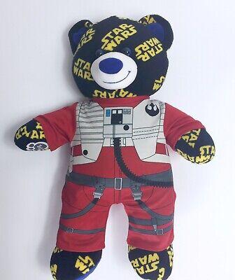 Bears In Star Wars (BUILD A BEAR STAR WARS Logo Bear w/ Poe Dameron Suit Plush Stuffed Animal)