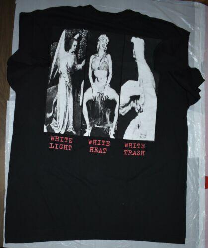 VERY RARE!! WHITE LIGHT WHITE HEAT WHITE TRASH SOCIAL DISTORTION 1996 TOUR SHIRT