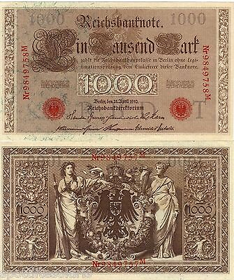 1.000 Reichs - Mark - noch gut erhalten fürs Alter