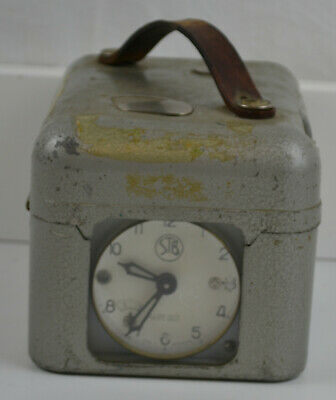 Rare STB - Vintage - Pigeon Racing Clock - Metal - Inc Key - Swiss Switzerland