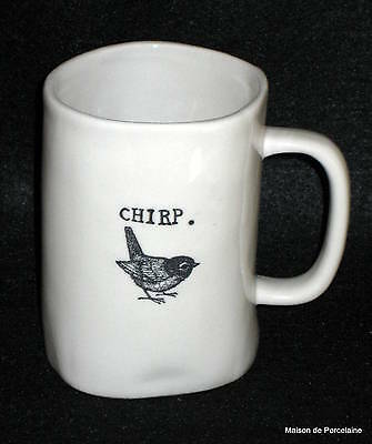 "RAE DUNN VINTAGE M STUDIOS ""CHIRP"" BIRD MUG EXTREMELY RARE"