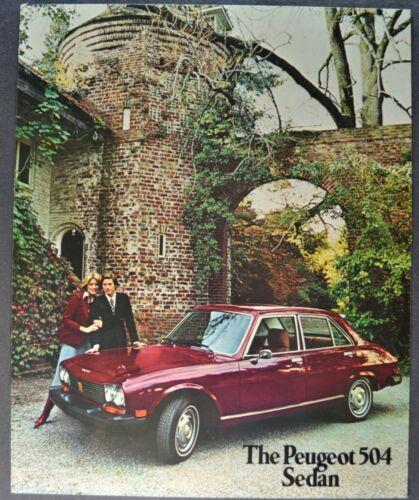 1975 Peugeot 504 Sedan Sales Brochure Sheet Excellent Original 75