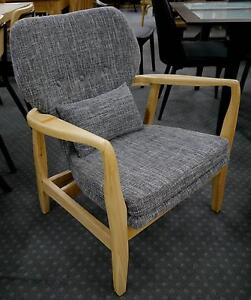 RRP.$495 New Scandi Danish Chair Natural Grey Timber Arm Chair Melbourne CBD Melbourne City Preview
