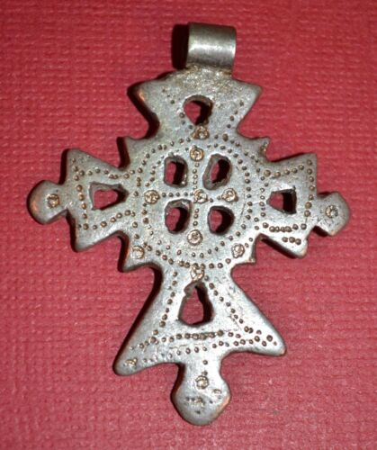 Antique Ethiopian Coptic Christian Cross Pendant Ethiopia, Africa
