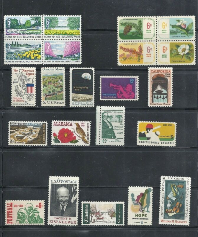 1969 - Commemorative Year Set - US Mint Stamps - LOW PRICES UNTIL SOLD OUT