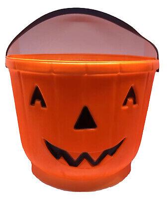 Vintage Jack O Lantern Pumpkin Candy Treat Bucket Pail By Carolina Enterprises