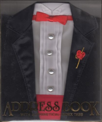 "EASTERN ACCESSORIES ""Tuxedo"" Address Book w/Alphabetical Index Tabs – NEW IN BOX"