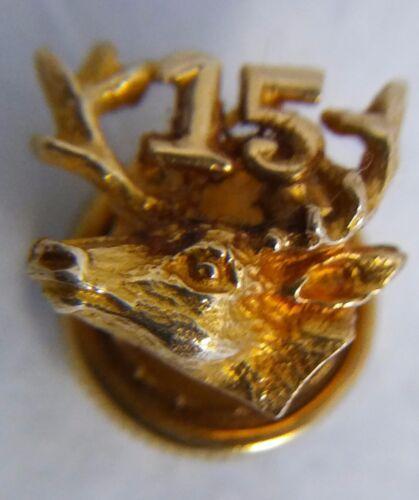 """Vintage 14k Gold 15 Year Moose Lodge Membership Pin 1/2"""""""