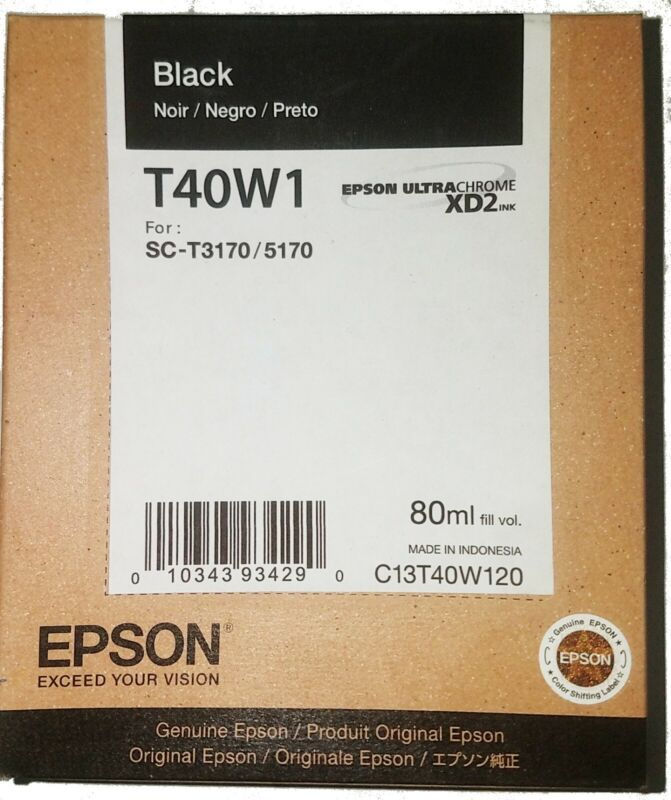 Genuine Epson SureColor T-Series 80/50ml ink-jet cartridge set T40W T3170&T5170