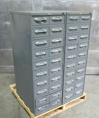 20 Drawer Storage Tool Parts Metal Cabinet Tooling Hardware Wright Line 19x28x55