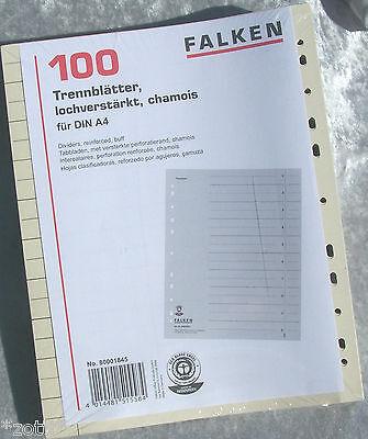 SEPARATORI REGISTRO depositanti foglie scatola di cartone per A4 raccoglitore