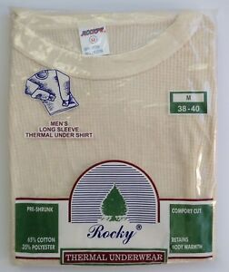 6d1462db836f Rocky Thermal Underwear Long Sleeve Shirt Waffle Men's Medium 38-40 NOS  Vintage