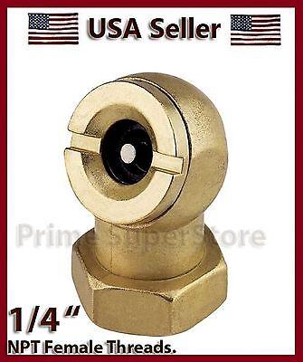 (NEW 1/4 INCH BALL  CHUCK BRASS TIRE INFLATOR AIR LINE COMPRESSOR/ TANK VALVE )