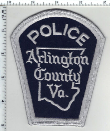 Arlington County Police (Virginia) Smaller Silver Border Shoulder Patch