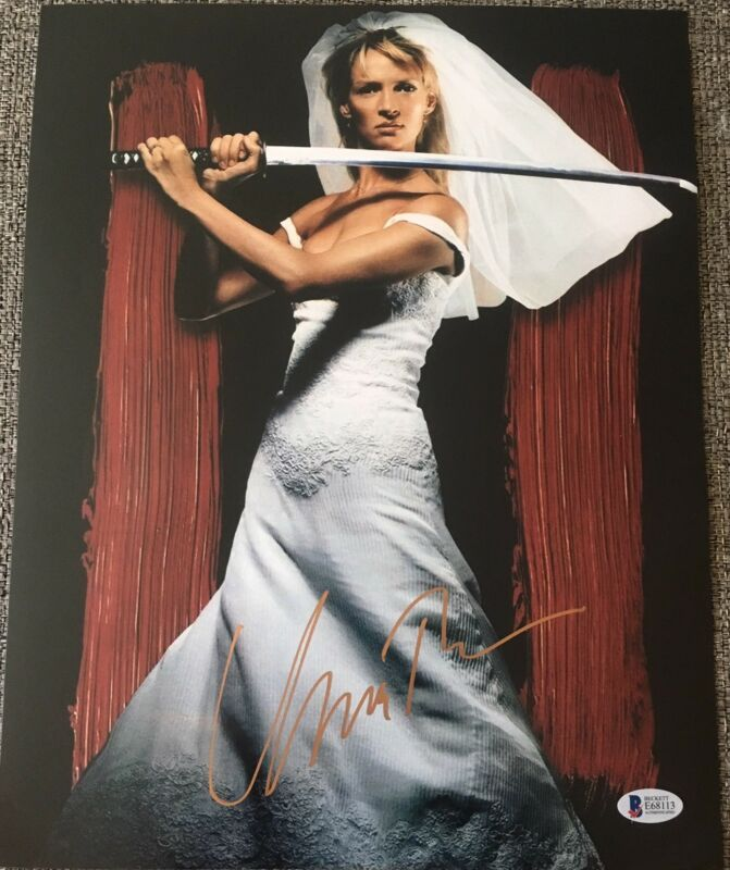 UMA THURMAN SIGNED AUTOGRAPH KILL BILL RARE CLASSIC POSTER 11x14 PHOTO BECKETT B