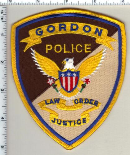Gordon Police (Nebraska)  Shoulder Patch  - new from 1989